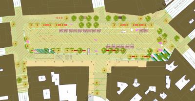 El proyecto de remodelación de la plaza (plano 1)
