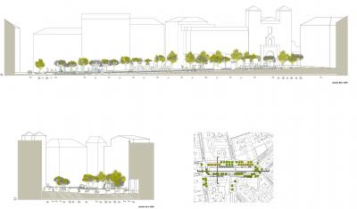 El proyecto de remodelación de la plaza (plano 2)